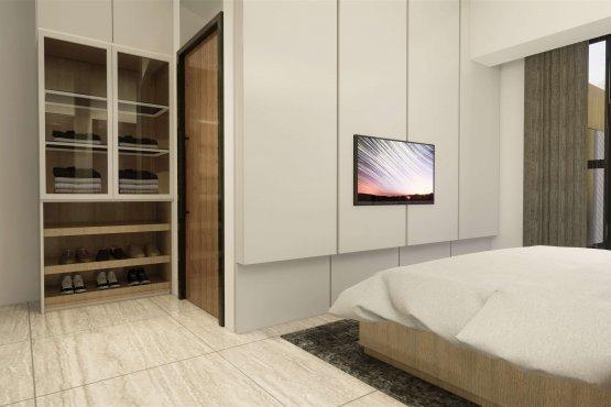 Interior desain kamar tidur modern natural