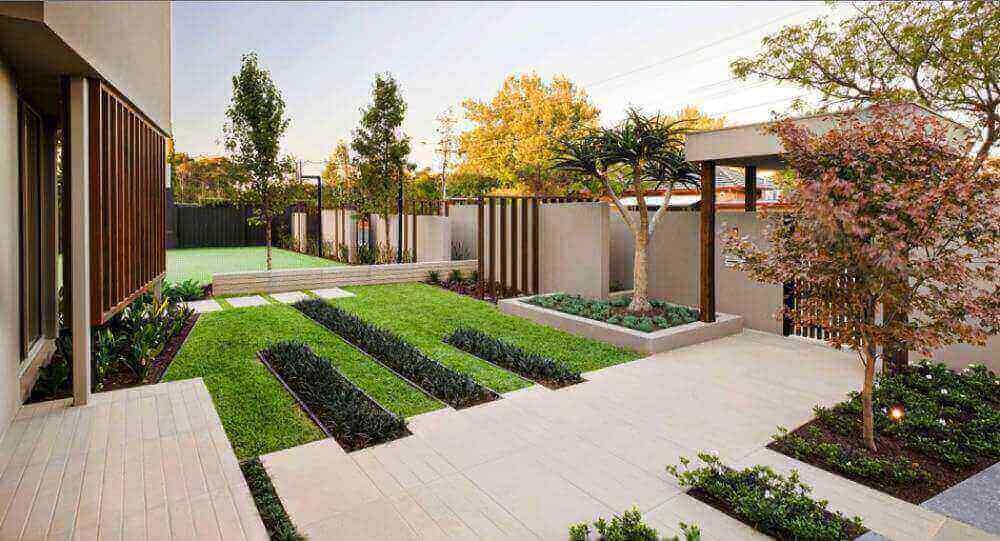 Desain interior taman minimalis