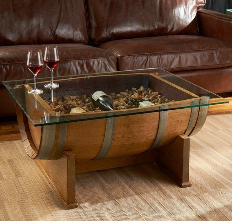 coffe tabel dari gentong wine