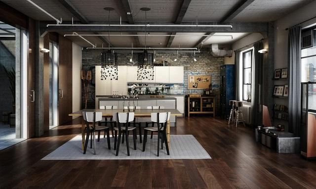 Desain rumah gaya industrial