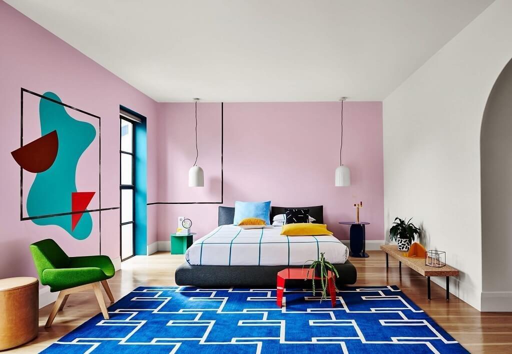 desain interior post modern; the memphis style