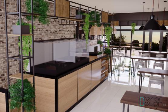 Jasa desain interior kafe