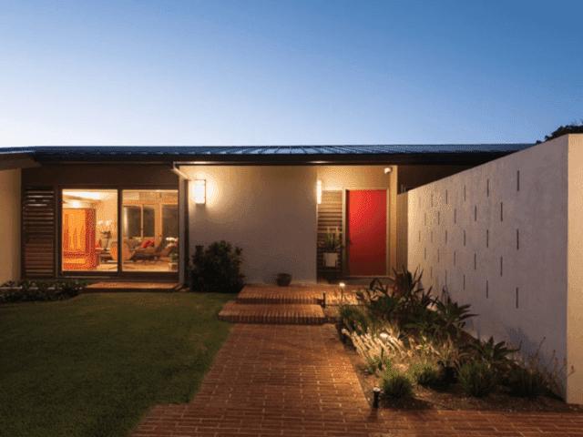 fasad rumah modern yang sederhana