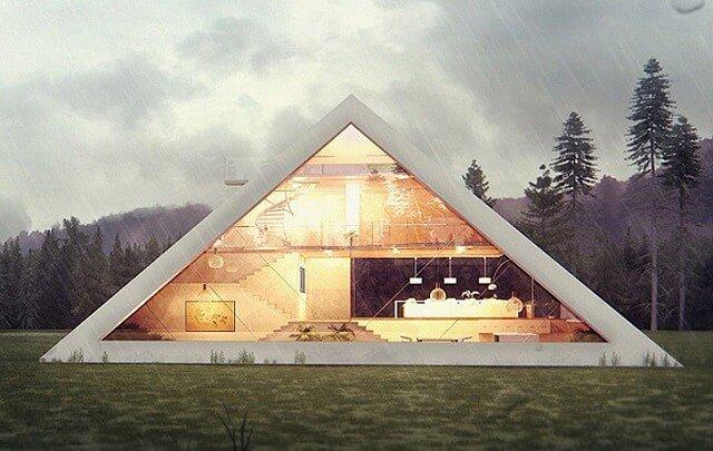 rumah unik piramid