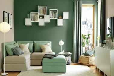 cat rumah warna hijau untuk ruang tamu