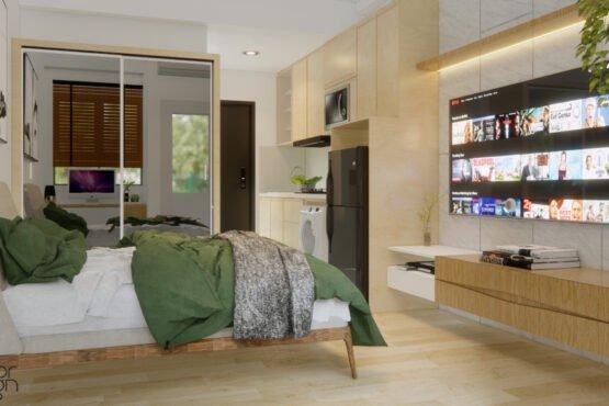 desain apartemen riverview cikarang