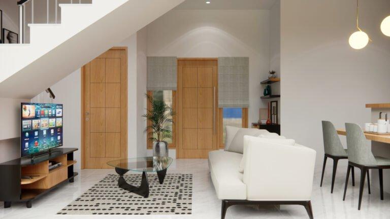 interior ruang keluarga jakarta barat