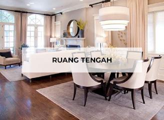 Ruang tengah (ruang keluarga/ruang makan tanpa sekat)