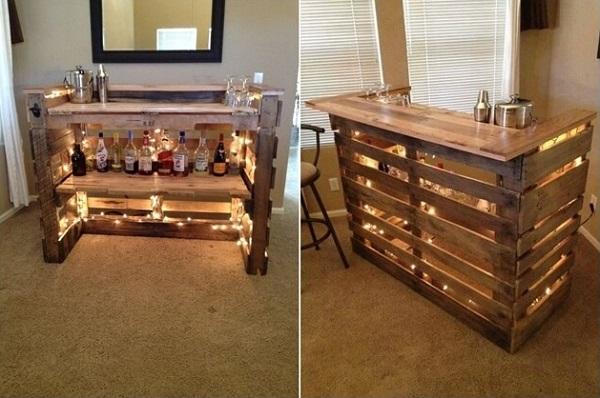 mini bar dari kayu palet