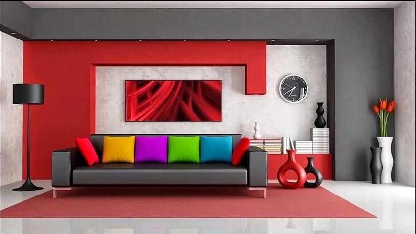 17 Dekorasi Ruangan Dengan Menggunakan Cat Warna Warni Yang Ceria
