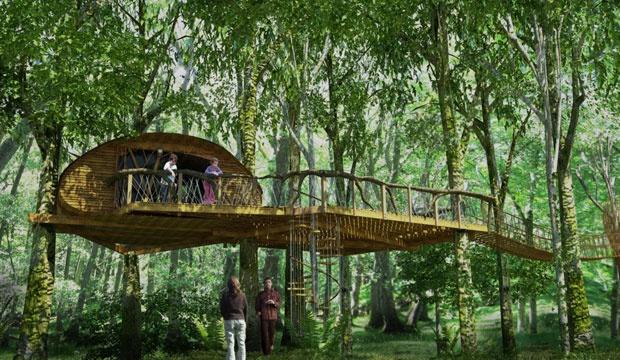 10 2 - Desain Rumah Pohon yang Super Mewah