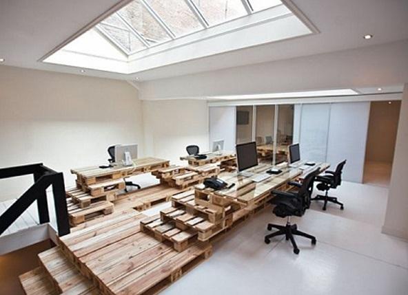 meja kantor dari palet
