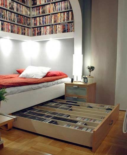 desain kamar tidur mungil