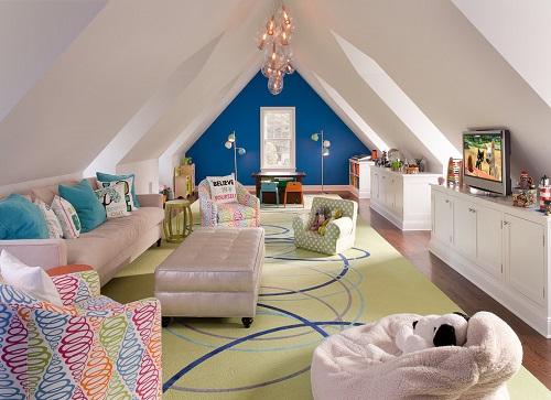 loteng rumah sebagai ruang keluarga