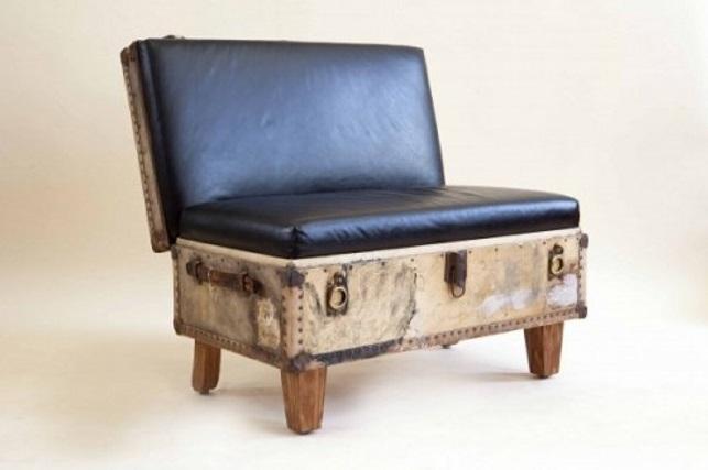 kursi dari kopor bekas