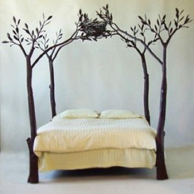 frame tempat tidur sarang burung