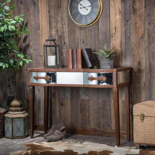 console table atau credenza The Evelyn mirrored