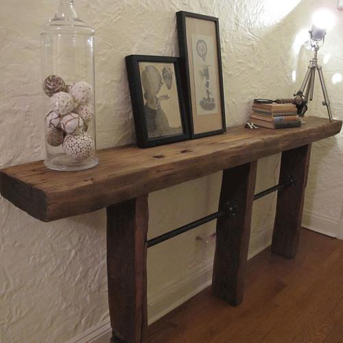 console table atau credenza gaya rustic industrial