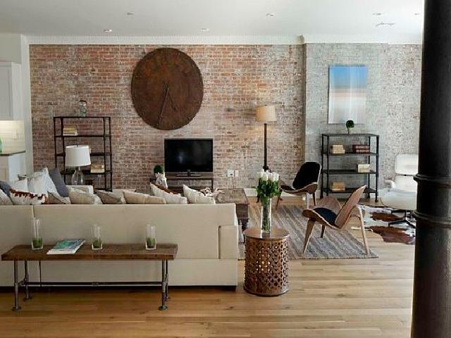 interior rumah gaya kontemporer industrial
