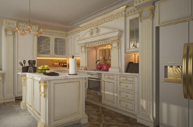 desain dan layout dapur klasik
