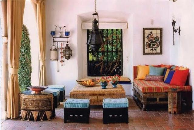 gaya desain interior maroko