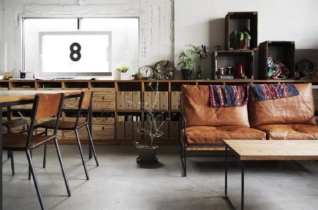 interior rumah gaya industrial retro