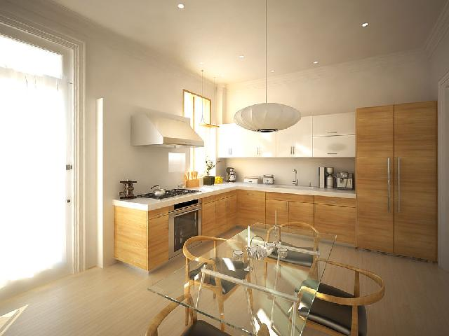 desain dapur minimalis bentuk L