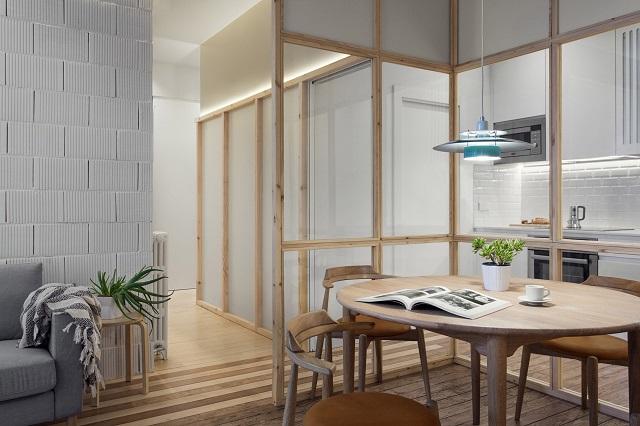 Desain Ruang Tamu Super Mewah broken plan konfigurasi ulang interior apartemen seluas