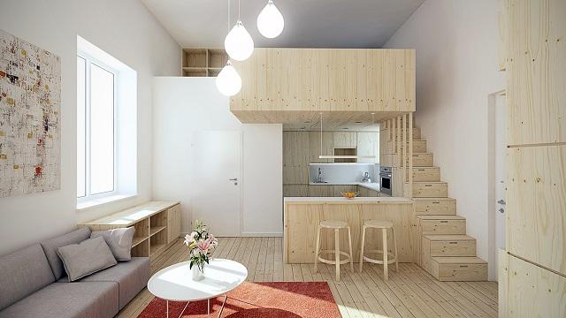 interior rumah lantai terbuka