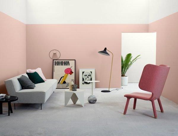 ruangan dengan pilihan warna cat pink pastel