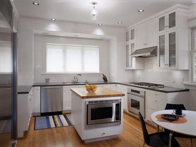 desain dapur kecil dengan kitchen island