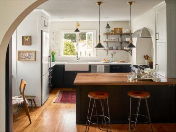 Desain Dapur Peninsula Rumah Kecil Yang Fungsional