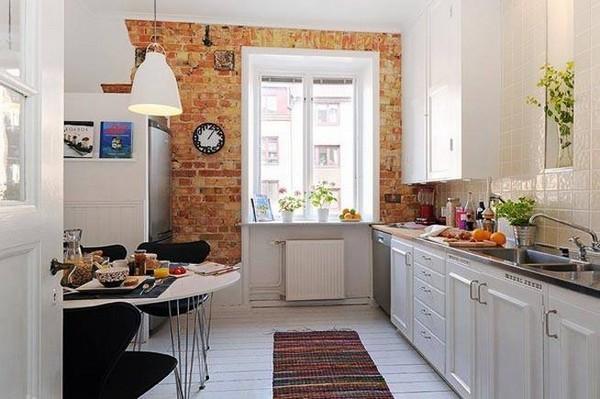 dapur minimalis gaya skandinavia dengan aksen warna-warna favorit
