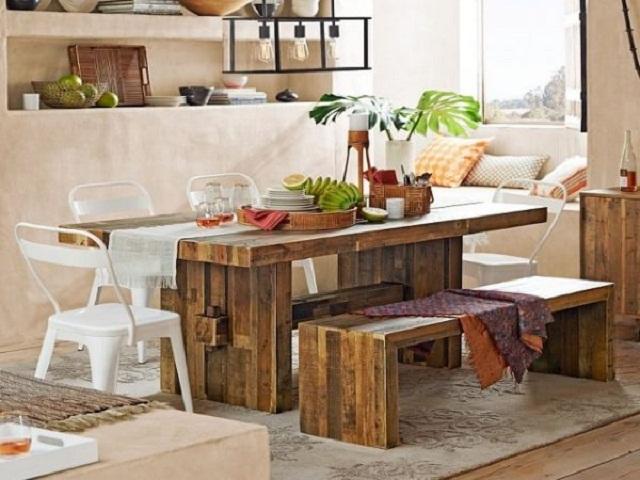 Desain Ruang Makan Kecil Boho Style Dining Room Yang Sangat Memesona