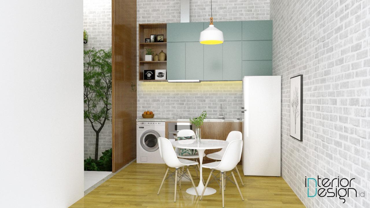 interior dapur gaya eklektik modern