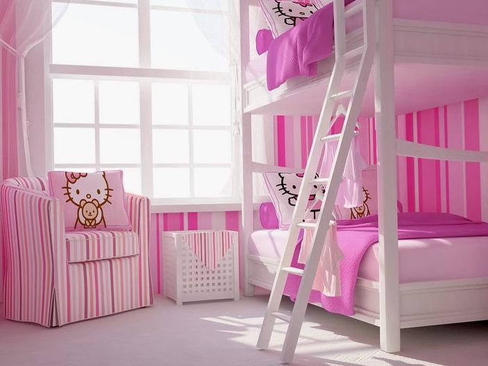 Desain Rumah Hello Kitty Tampilan Merah Muda Yang Imut