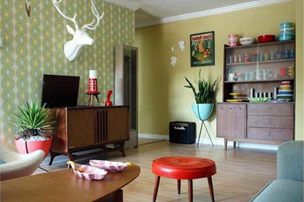 dekorasi rumah gaya retro
