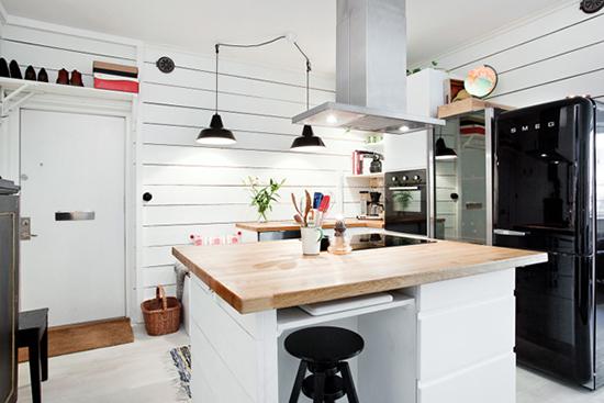 interior dapur minimalis gaya skandinavia