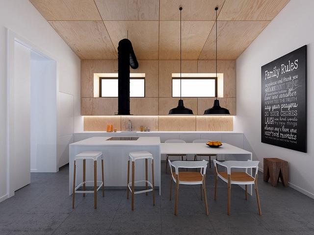 Dapur Industrial Desain Dapur Rumah Ala Kafe