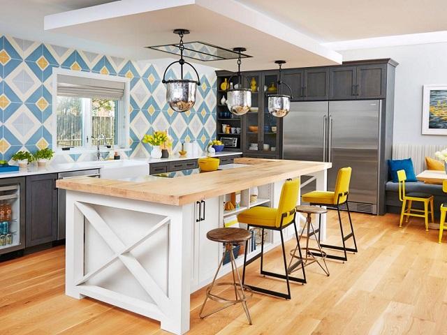 Desain dapur gaya tradisional modern