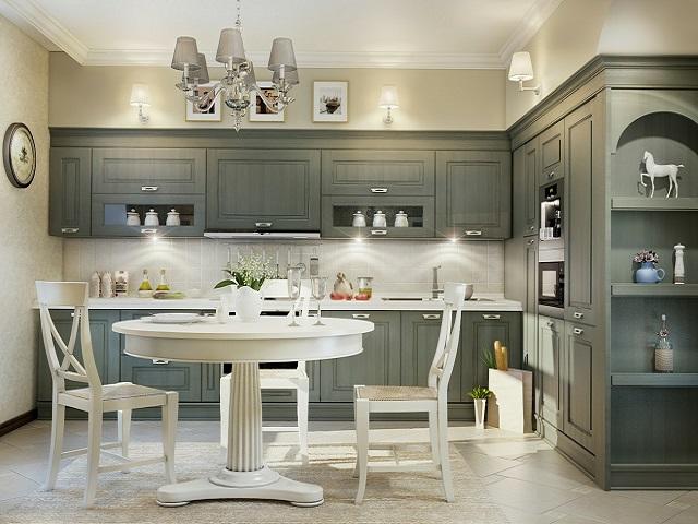 ruang makan dan dapur gaya minimalis klasik