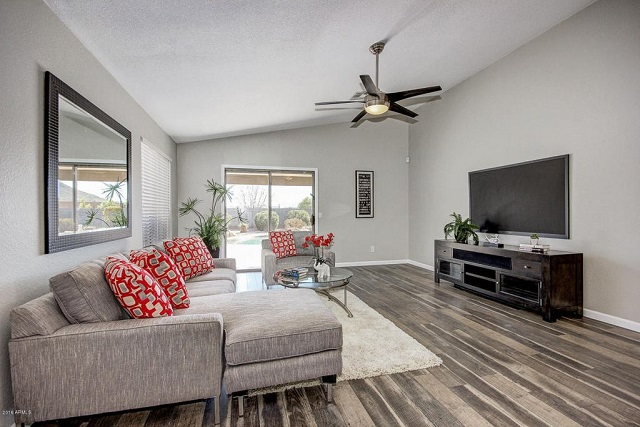 desain interior ruang keluarga bergaya kontemporer