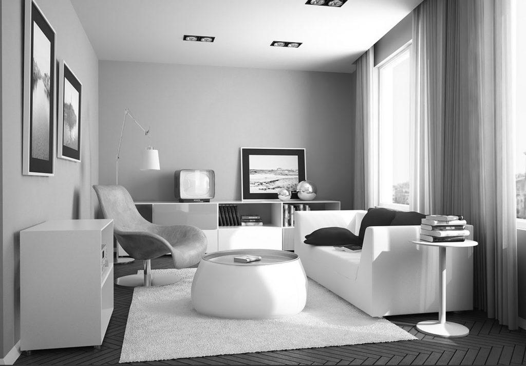 desain rumah monokrom