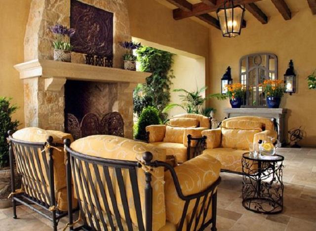 Desain interior mediterania tradisional