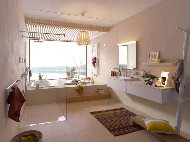 5 Desain Kamar Mandi Gaya Mediterania Yang Akan Memanjakan Anda Interiordesign Id