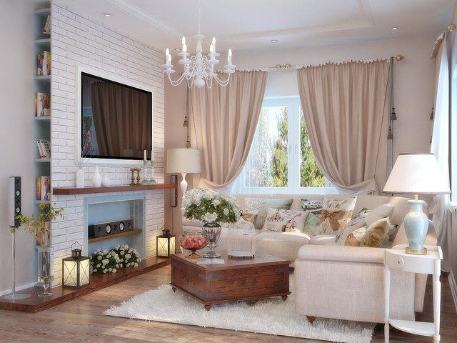 Desain ruang tamu neoklasik
