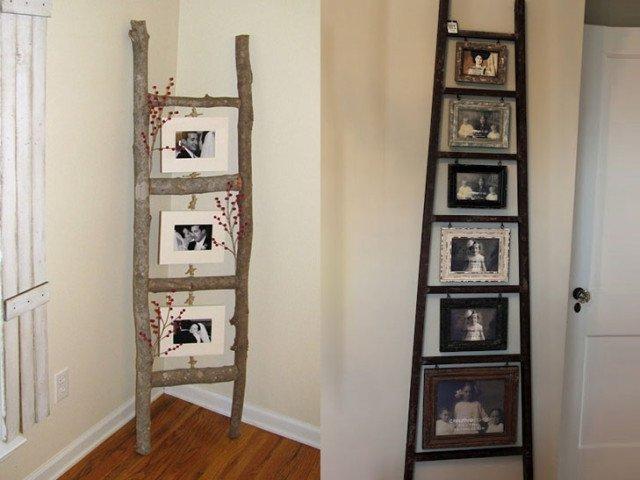 dekorasi rumah yang unik dan menarik; frame foto dari kayu