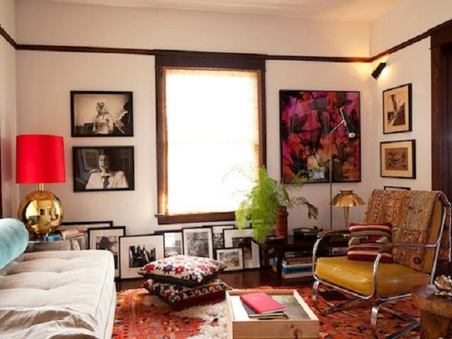 bohemian style interior