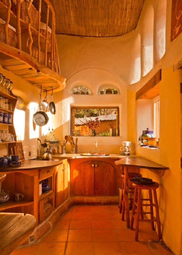 Desain rumah ramah lingkungan; desain dapur rumah modern-cob