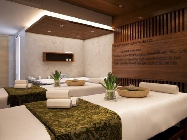 desain interior spa; gaya desain modern etnik yang unik